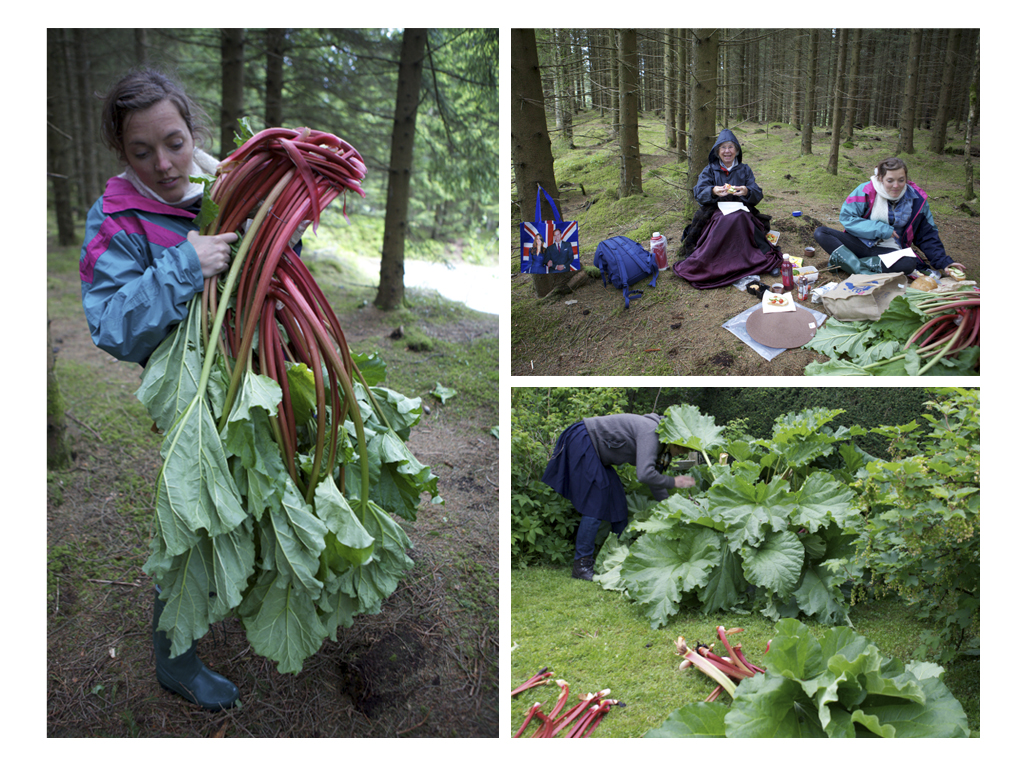 Rhubarb shoot with Astrid outside Stavanger, Norway  © Karoline Hjorth & Riitta Ikonen