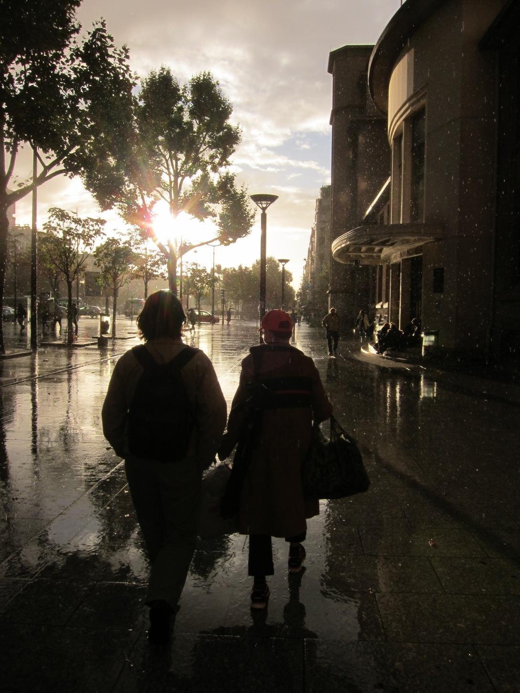 Sunny-rainy walk to the choir practice © Eyes as Big as Plates