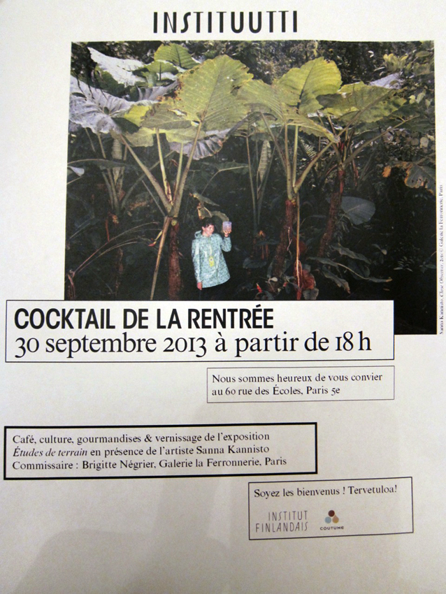 Grand re-opening of the Institut Finlandaise on Rue des Ecoles on the 30th September (next Monday), it should be a lot of fun!