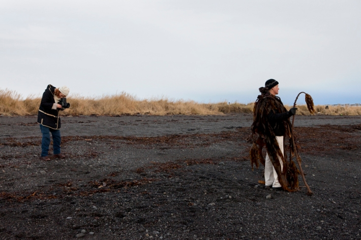 Berent and his seaweed pipes © Riitta Ikonen and Karoline Hjorth