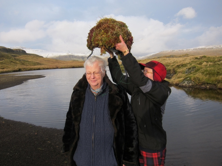Luckily we had drip dried this headdress last night to make it a bit lighter © Riitta Ikonen and Karoline Hjorth