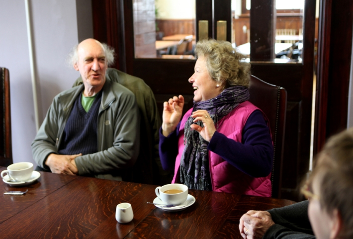 Stephen and Tuula at the Tetley (the beer, not the tea) Brewery © Eyes as Big as Plates