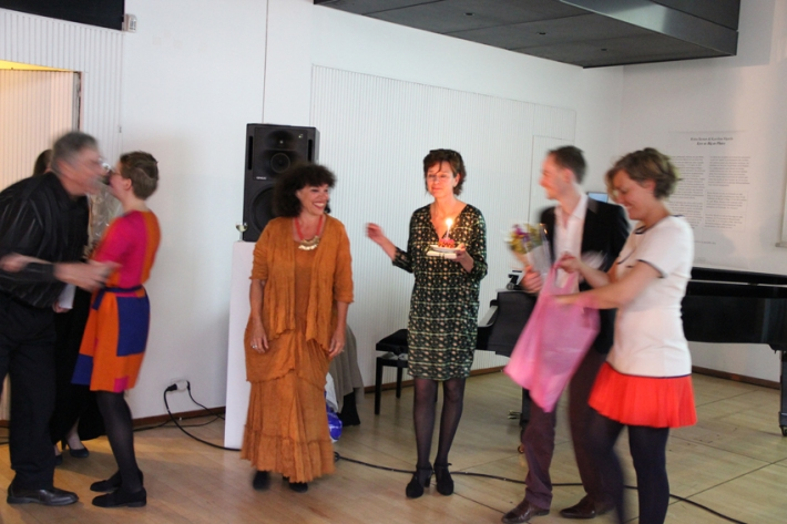 It was the director's birthday this evening too, joyeux anniversaire to the wonderful Meena Kaunisto © Institut Finlandais 2014