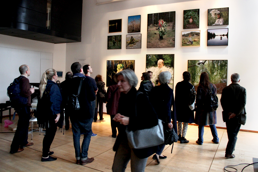 The exhibition was revealed to the audience straight after the performance © Institut Finlandais
